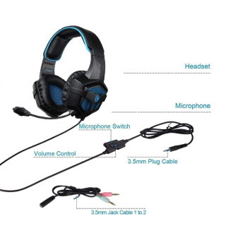 SADES SA807 Gaming Headset Stereo Headset for PC PS4 XboxOne Mac Laptop Computer Smart Phones