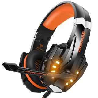 BENGOO G9000 Stereo Gaming Headset for PS4, PC, Xbox One Controller - Orange