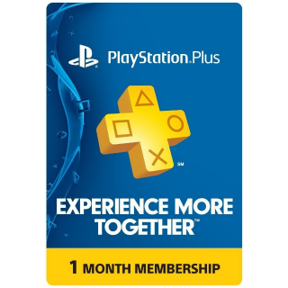 PlayStation Plus: 1 Month Membership [Digital Code] (Automatic Delivery)
