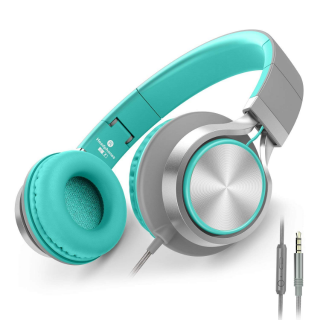 AILIHEN C8 Headphones with Microphone and Volume Control - Turquoise