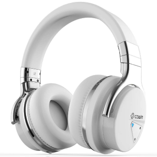 COWIN E7 Active Noise Cancelling Bluetooth Headphones - White