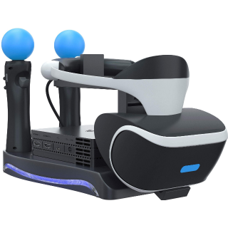 Skywin PSVR Stand - Charge, Showcase, and Display your PS4 VR Headset and Processor - Compatible with Playstation 4 PSVR