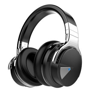 COWIN E7 Active Noise Cancelling Bluetooth Headphones - Black