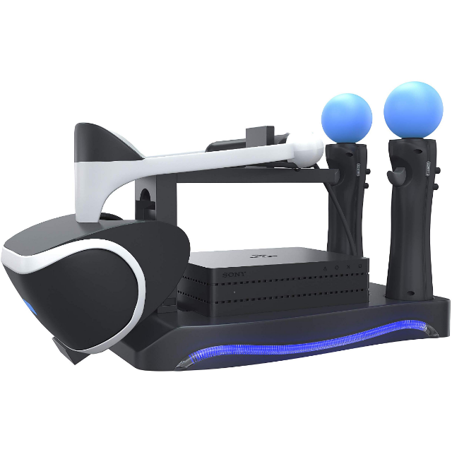 Skywin Psvr Stand Charge Showcase And Display Your Ps4 Vr Headset And Processor Compatible Wit Gameflip