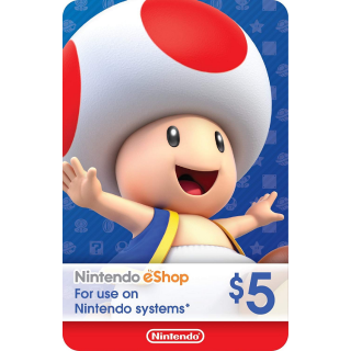 $5.00 Nintendo eShop (Automatic Delivery)