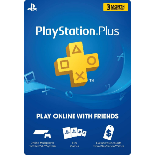PlayStation Plus: 3 Months Membership [Digital Code] (Automatic Delivery)
