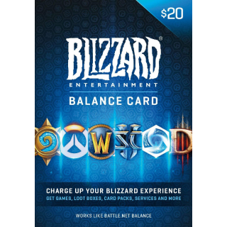 $20.00 Blizzard Gift Card (Automatic Delivery)