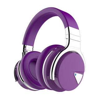 COWIN E7 Active Noise Cancelling Bluetooth Headphones - Purple