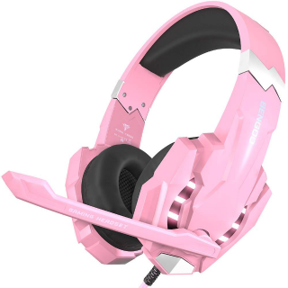 BENGOO G9000 Stereo Gaming Headset for PS4, PC, Xbox One Controller - Pink