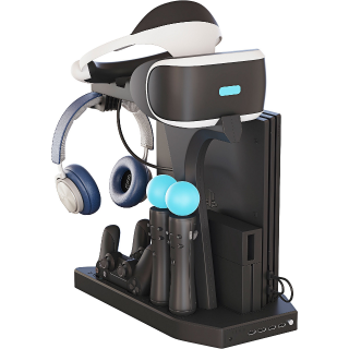 Skywin PSVR Charging Display Stand - Showcase, Cool, Charge, and Display your PS4 VR - Playstation 4