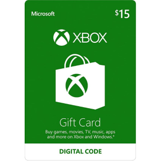 $15.00 Xbox Gift Card (INSTANT DELIVERY)