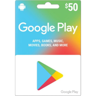 $50.00 Google Play Instant Delivery✔
