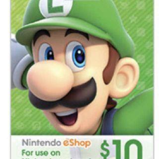 INSTANT $10.00 Nintendo eShop