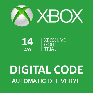 Xbox Live Gold 14 days trial  Global 𝐈𝐍𝐒𝐓𝐀𝐍𝐓