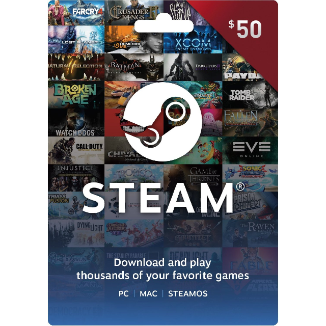 Instant Delivery 50 Aud Steam Card