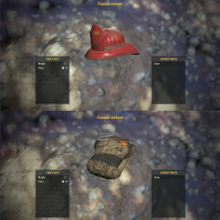Apparel | Fireman Uniform + Helmet