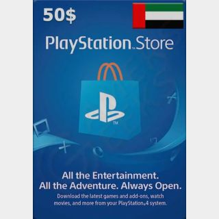 $50.00 PlayStation Store - INSTANT! UAE REGION ONLY