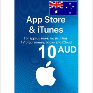$10.00 iTunes AUD ( AUSTRALIA ) Instant Automatic Delivery ( instant automatic  code delivery upon transaction )