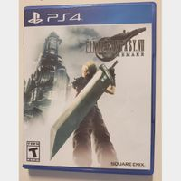 Final Fantasy 7 VII FF7 Remake Cloud Playstation 4 PS4 RPG Video Game