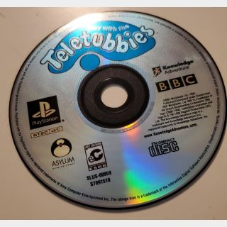 Play With the Teletubbies Sony Playstation 1 PS1 Adventure Video Game