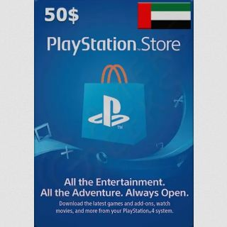 $50.00 ~(183.60 AED) PlayStation Store (UAE) REGION ONLY