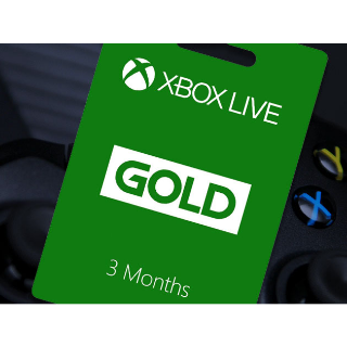 Xbox Live Gold 3MONTHS
