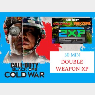 Call of Duty Black Ops: Cold War - 30 MIN DOUBLE WEAPON XP - PS5 /XBox Series X|S /PS4 /XBox One /PC
