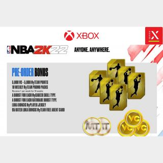 NBA 2K22 Pre-Order Bonuse DLC - Xbox Series X S, Xbox One