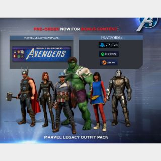 [PS4Steam/Xbox]Marvel's Avengers: Legacy Outfit Pack+Nameplate