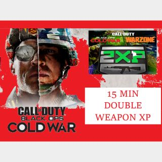 Call of Duty: Cold War/Warzone - 15 MIN DOUBLE WEAPON XP - PC/Xbox/PS4
