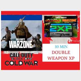 Call of Duty: Warzone - 30 MIN DOUBLE WEAPON XP - PS4 /XBox Series X|S /PS5 /XBox One /PC