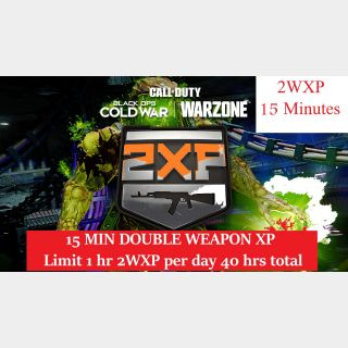 Call of Duty: WARZONE - 15 MIN DOUBLE WEAPON XP - PS4/Xbox/PC