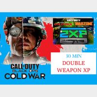 Call of Duty Black Ops: Cold War - 30 MIN DOUBLE WEAPON XP - PS5/ XBox Series X|S  /PS4 /XBox One /PC