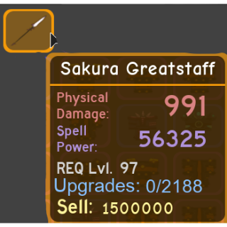 Gear | Sakura Greatstaff - DQ