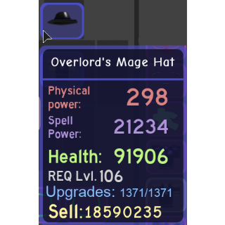 Gear | Overlord's Mage Hat - DQ