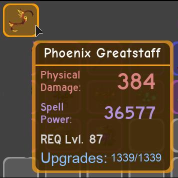 Team Upgrade Roblox - Other 1x Phoenix Greatstaff In Game Items Gameflip