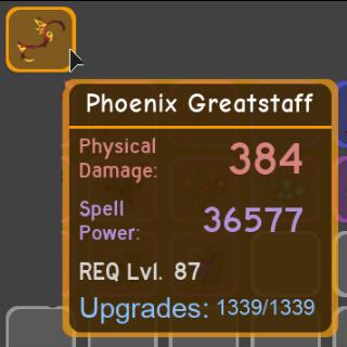 Other   1x Phoenix Greatstaff