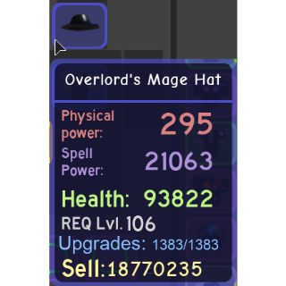 Gear | Overlord's Mage Hat
