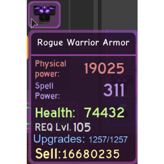 Gear | Rogue Warrior Armor - DQ
