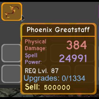Other   Phoenix Greatstaff - DQ