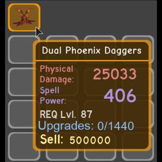 Pet   Dual Phoenix Daggers