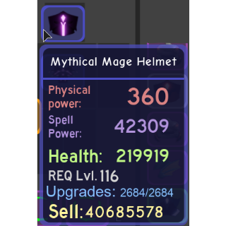 Gear | Mythical Mage Helmet
