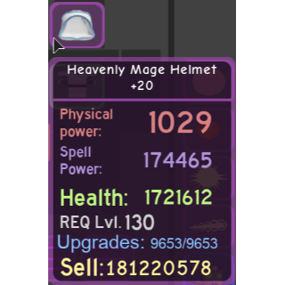 Gear | Heavenly Mage Helmet +20