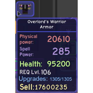 Gear | Overlord's Warrior Armor