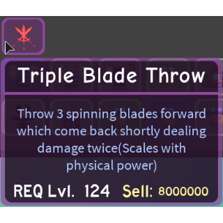 Gear | Triple Blade Throw - DQ