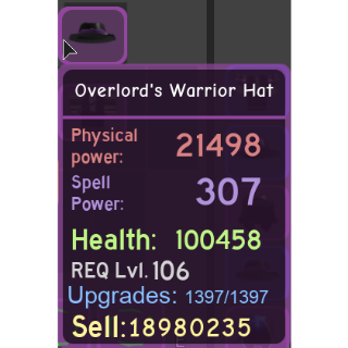 Gear | Overlord's Warrior Hat