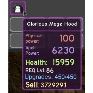 Other   Glorious Mage Hood - DQ