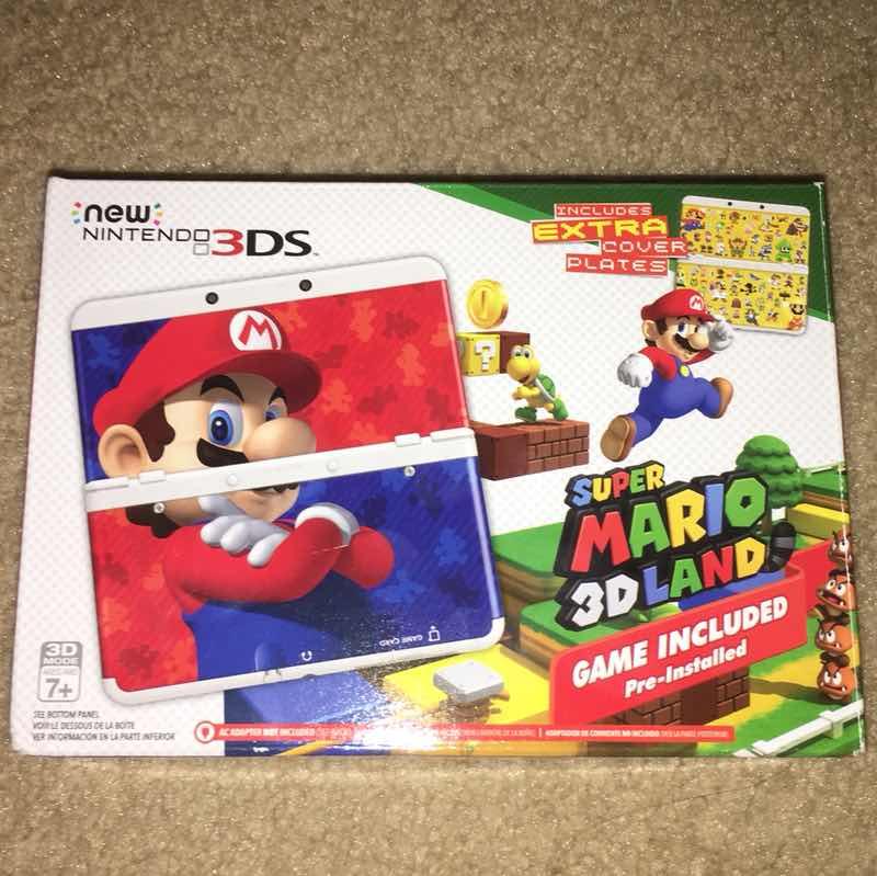New Nintendo 3DS Super Mario 3D land edition console