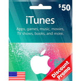 iTunes $50 Gift Code US Auto Delivery