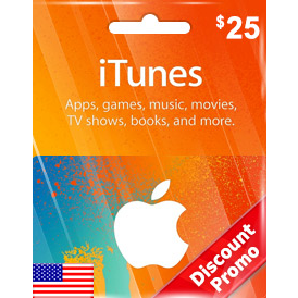 Itunes $25 Gift Code US Auto Delivery